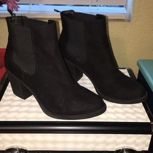 Faux suede booties from H&M